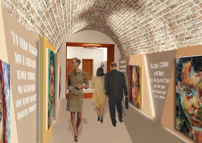 Fotomontaggio interno Galleria 01
