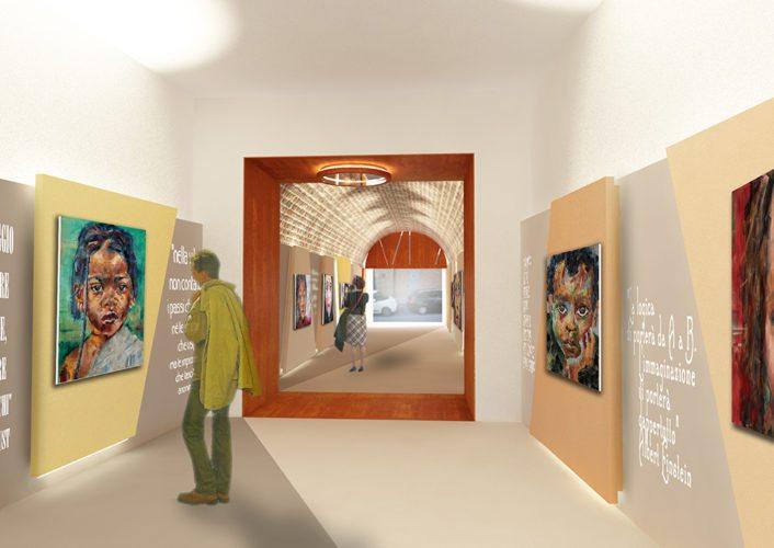 Fotomontaggio interno Galleria 02