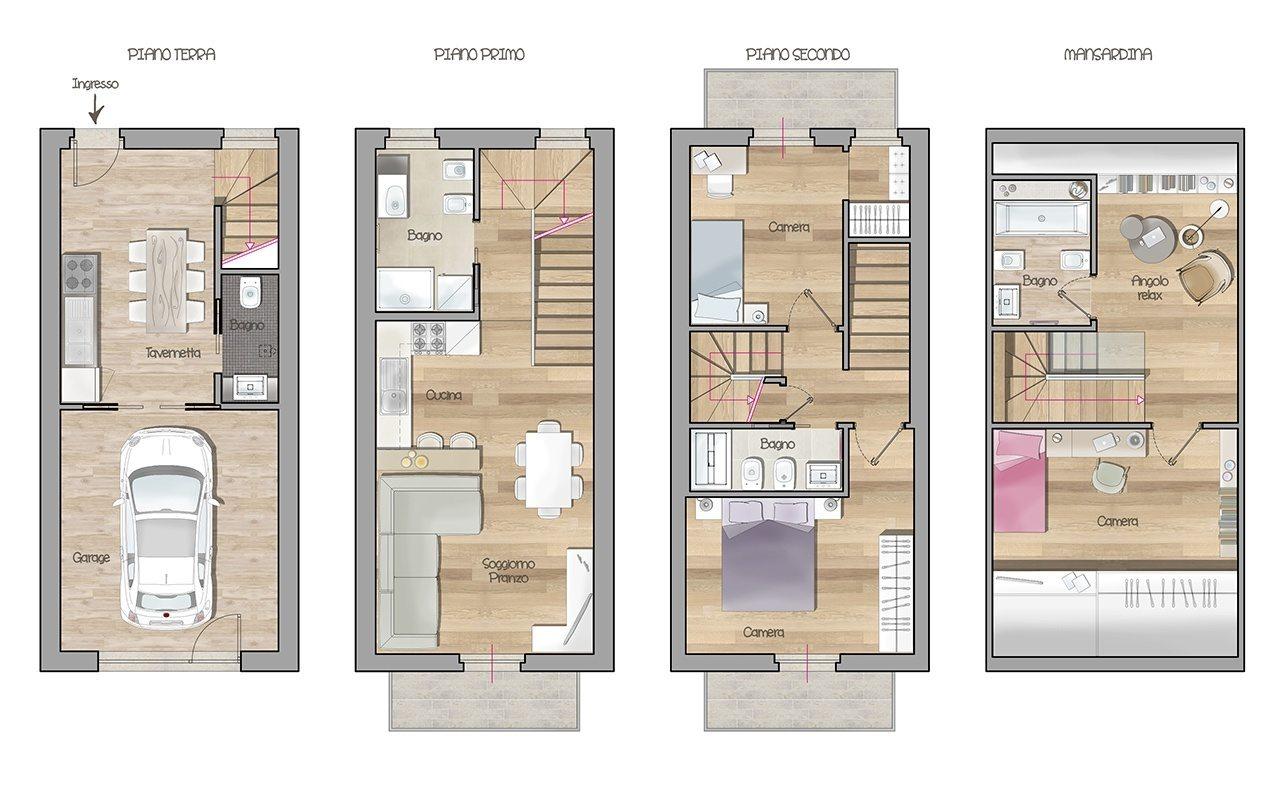 Arkteam architetti the new way to image architecture - Casa a schiera progetto ...